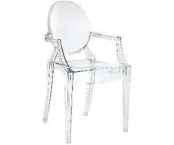 Modway Casper Dining Armchairs in Clear
