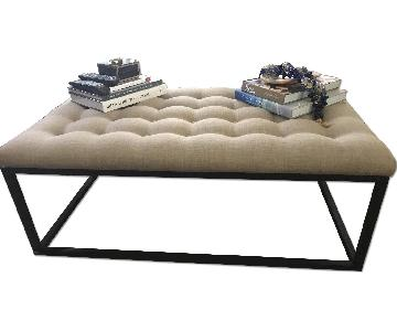 Raymour & Flanigan Upholstered Coffee Table