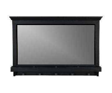 Crate & Barrel Black Entryway Mirror