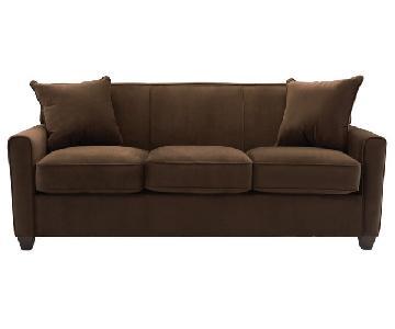Raymour & Flanigan 3 Seater Microfiber Sofa
