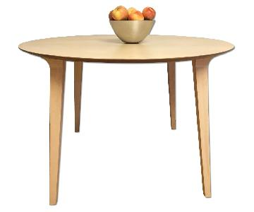 Design Within Reach Round Wood Dining Table