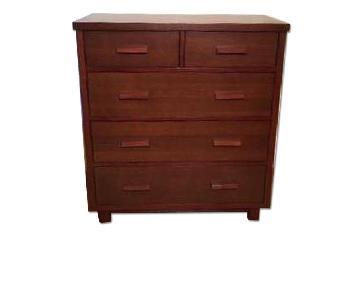 Land of Nod Oak Park 5-Drawer Dresser