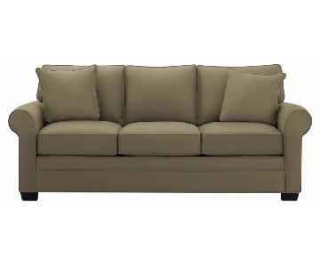 Raymour & Flanigan Glendora Microfiber Sofa