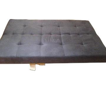 Ikea Blue Tufted Bench
