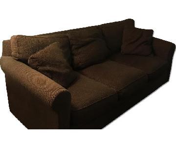 Crate & Barrel Brown 3 Seater Sofa