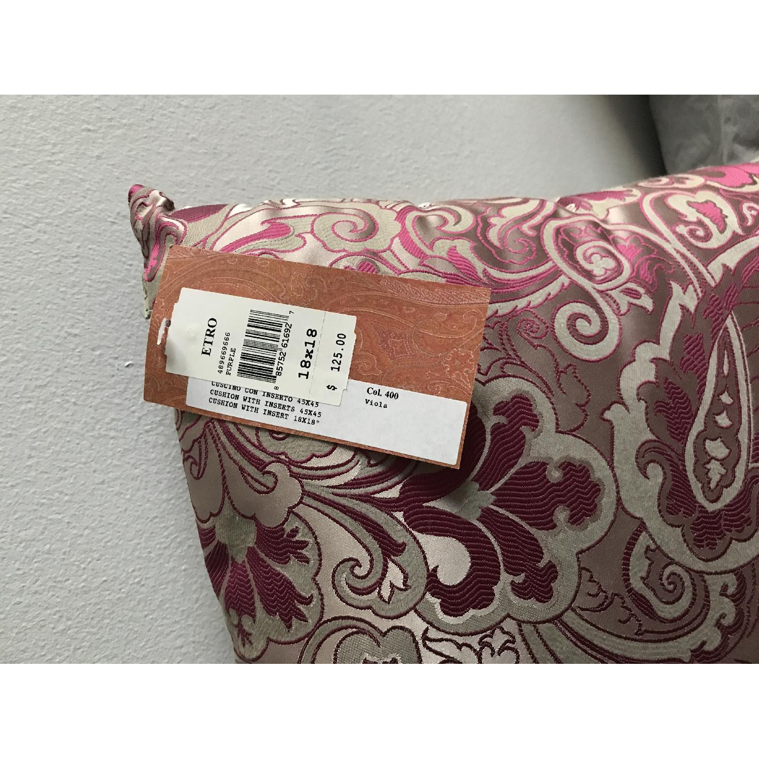 Etro Home Pink Paisley Square Decorative Pillow - image-1