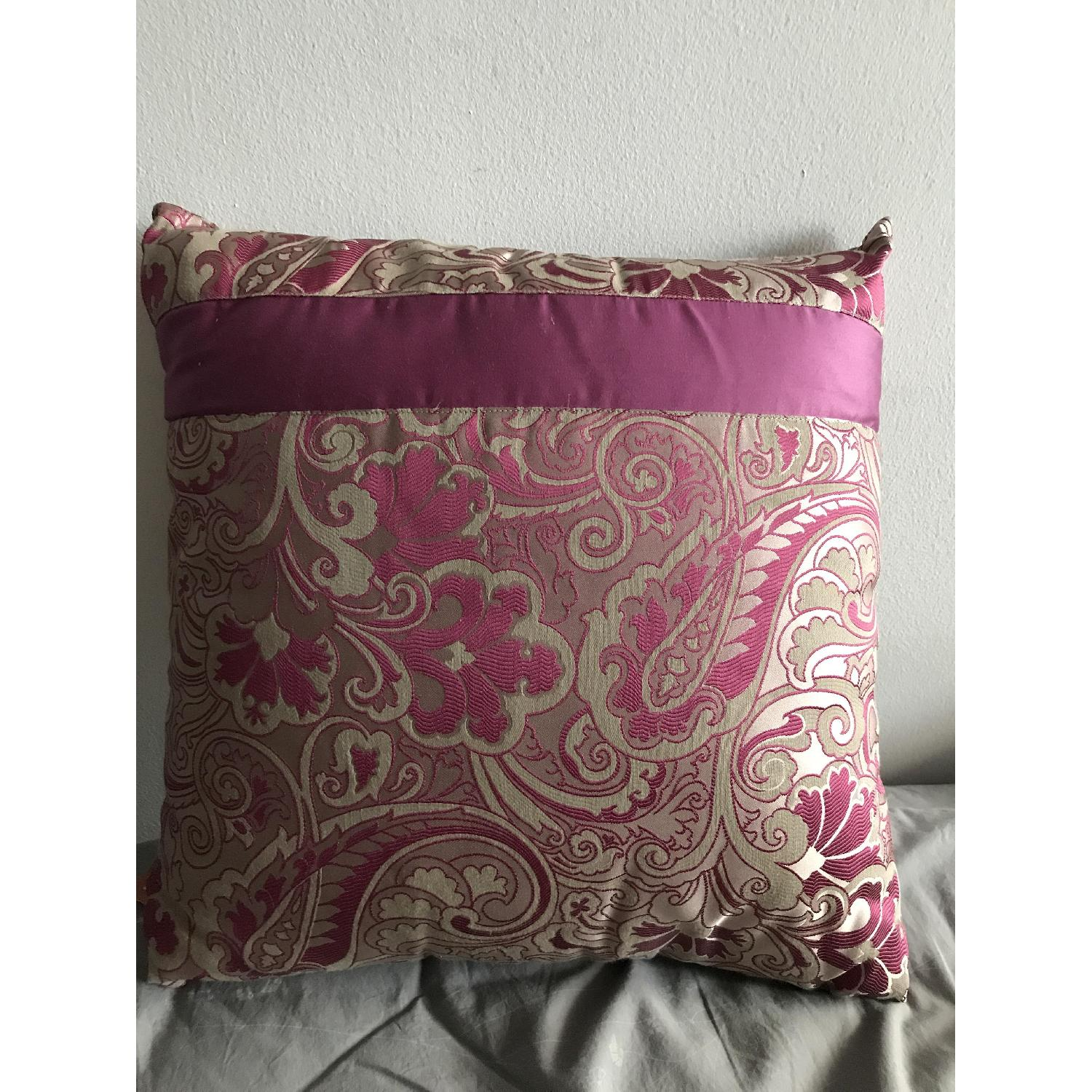 Etro Home Pink Paisley Square Decorative Pillow - image-3