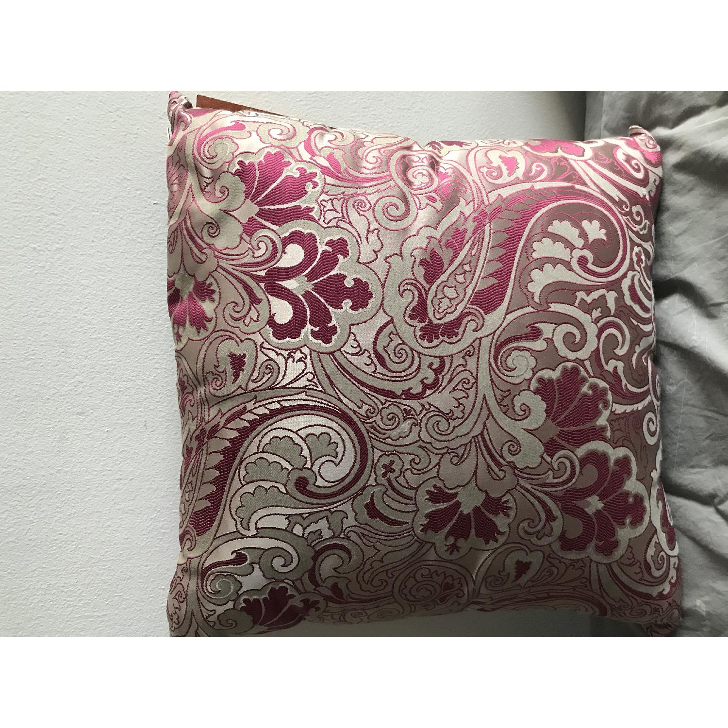 Etro Home Pink Paisley Square Decorative Pillow - image-4
