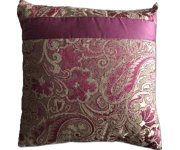 Etro Home Pink Paisley Square Decorative Pillow