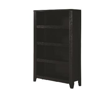 Four Tier Bookcase Finished in Black