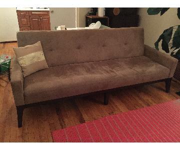 West Elm Clark Sleeper Sofa in Brown