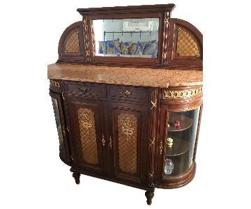 Antique Louis XIV Curio Cabinet