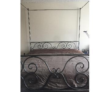 Vintage Pierre Deux Steel Cal King Scroll Bed