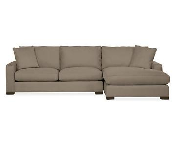 """Room & Board 120"""" Metro Sectional w/ Right Arm Chaise"""