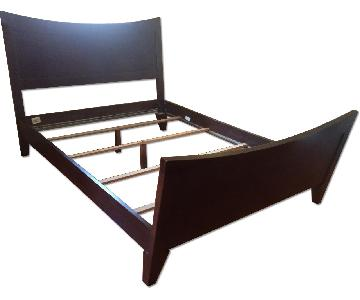 Ethan Allen Solid Wood Queen Size Bed Frame