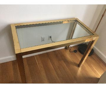 Glass Top Table w/ Gold Legs
