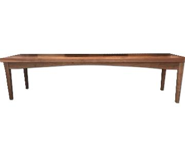 Custom Designed Walnut Bench