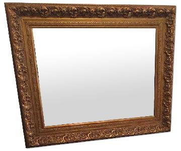 Large Vintage Victorian-Style Mirror