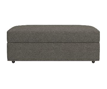 Crate & Barrel Oversized Lounge Storage Ottoman w/ Casters