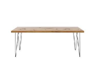 Reclaimed Wood Desk/Table w/ Hairpin Legs