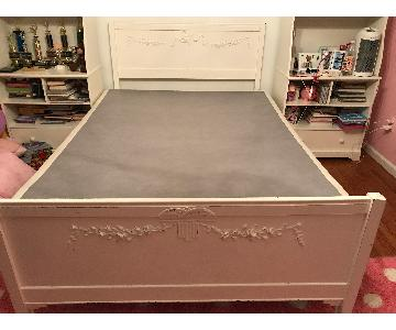Shabby Chic Style Full/Queen Headboard & Footboard
