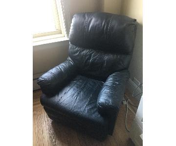 lazboy black leather recliner - Black Leather Recliner