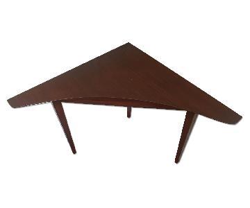 Wood Corner Table