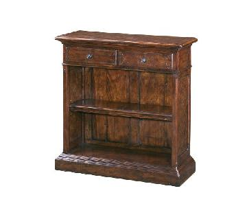 Theodore Alexander Antiqued Wood Open Bookcase