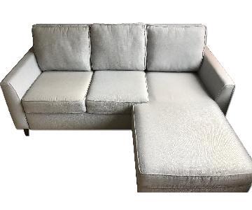 Room & Board Day & Night Sleeper Sofa Sectional & Storage Ot