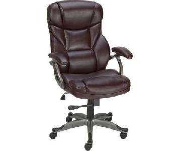 Staples Adjustable Brown Office Chair on Wheels