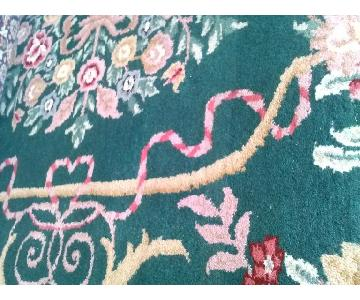 ThePreciousOne Lido Hand-Knotted Wool Rug in Teel Green