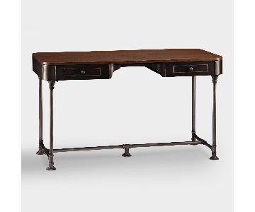 World Market Wood & Metal Industrial-Style Desk