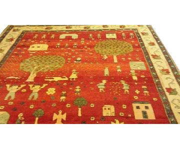ThePreciousOne Hand-Knotted Wool Rug in Veggie Dyes