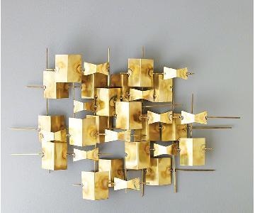 Dwell Studio Global Views Folded Brass Wall Decor