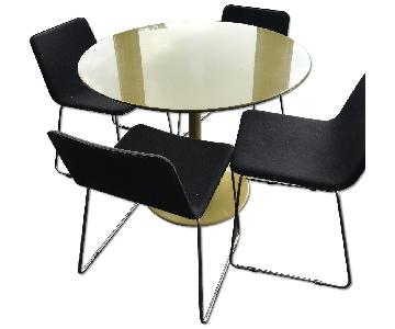 CB2 Round Dining Table w/ 4 Chairs
