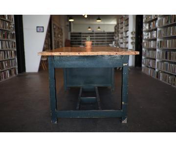 Large Wood Studio Desk