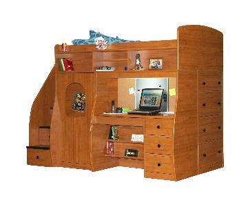 Berg Furniture Twin Loft w/ Play Area & Desk