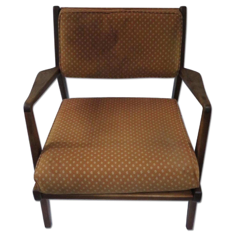 Knoll Jens Risom Lounge Chair in Walnut