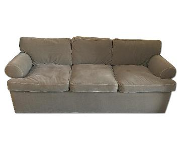 Olive Mohair Couch