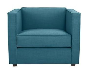 CB2 Teal Club Chair