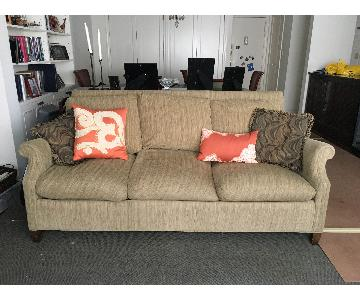Khaki Fabric 3 Seater Sofa