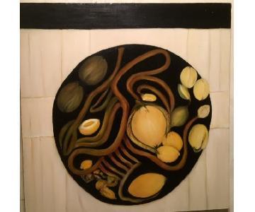 Ann Sgarlata Oil on Canvas - Lemons on Plate