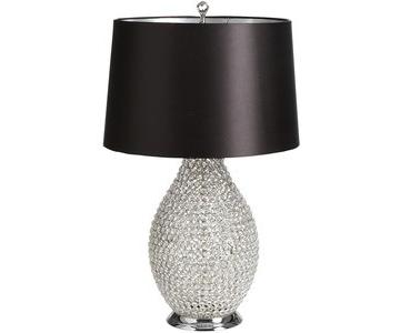 Pier 1 Black & Crystal Bead Table Lamps
