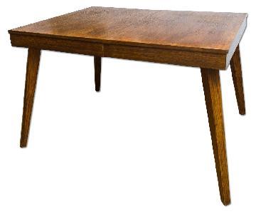 Vintage Wood Dining Table w/ Solid Wood Legs