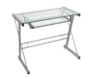 Walker Edison Glass & Metal Desk