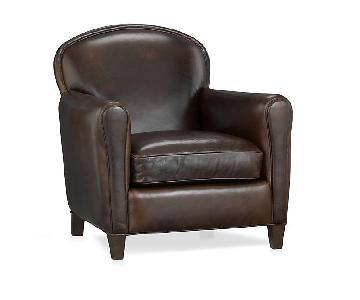 Crate & Barrel Eiffel Leather Armchair