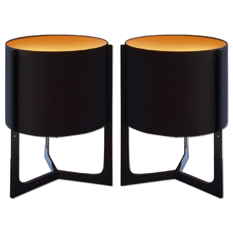 Carpyen Nirvana Black & Orange Table Lamps  - Pair - image-0
