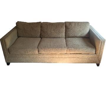 Crate & Barrel Davis 3 Seat Queen Size Sleeper Sofa