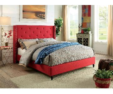 Furniture of America Anabelle Red Full Size Bed Frame