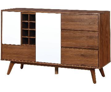 Furniture of America Edvard Wine Cabinet Server